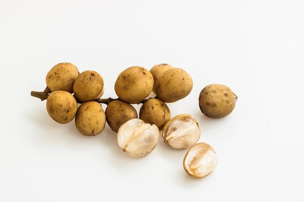 Longkong langsart fruit, asian science name lansium domesticum, isolate yellow fruit name lansart or longkong