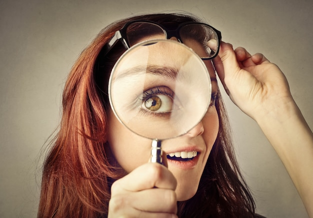 Looking closer in a magnifying glass