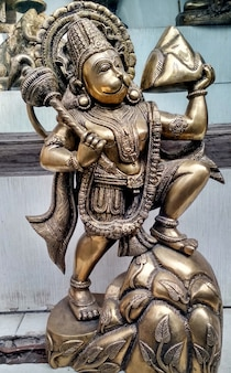 Lord hanuman iron statue