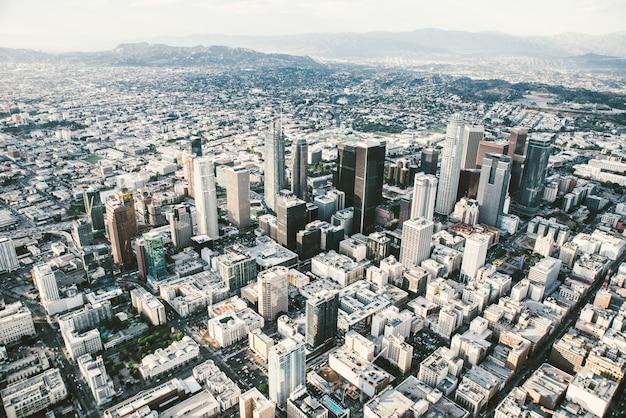 Лос-анджелес с высоты птичьего полета с вертолета