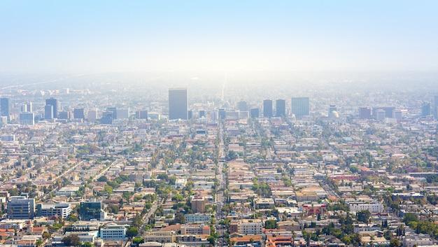 Лос-анджелес с городской застройкой