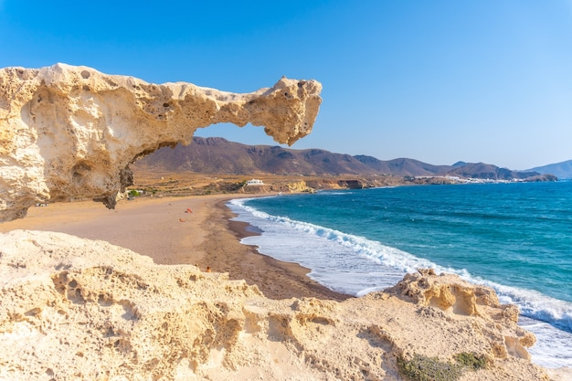 Los escullos beach in nijar, andalusia. spain, mediterranean sea