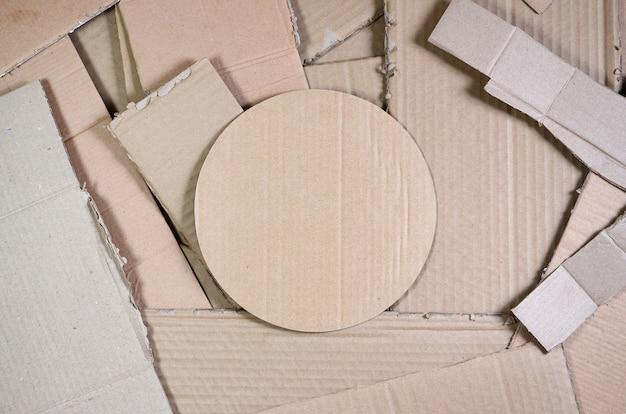 Lot of beige cardboard paper