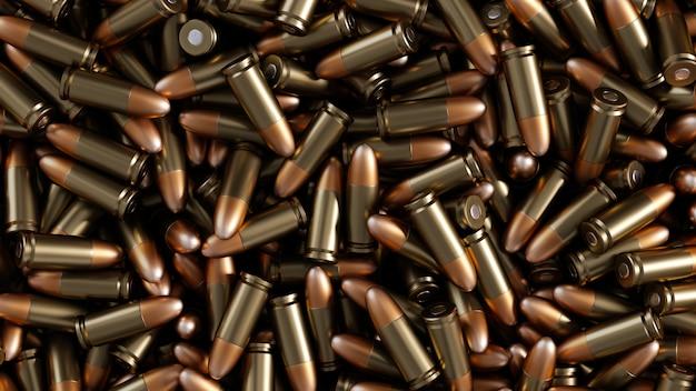 A lot of bullets background illustration