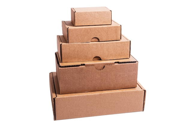 Lot of empty cardboard boxes