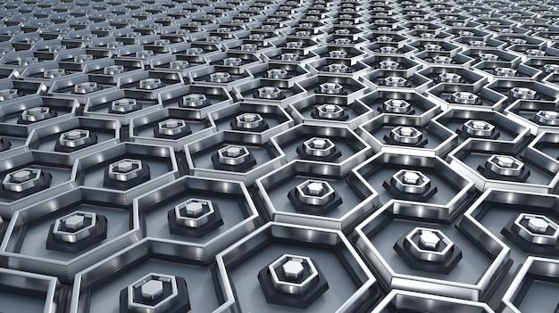 Lot of hexagons