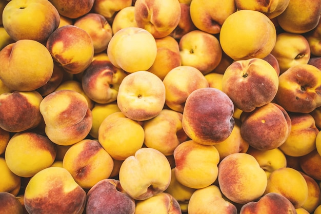 Lot of peachs