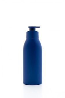 Lotion,cream or bath gel bottle on white background