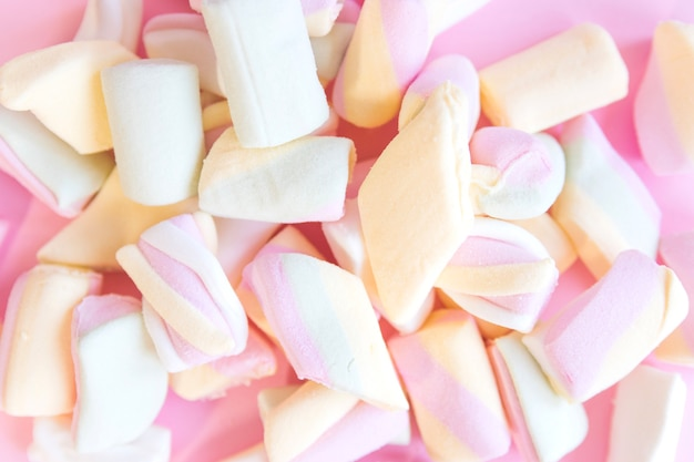 Lots of multicolored marshmallows
