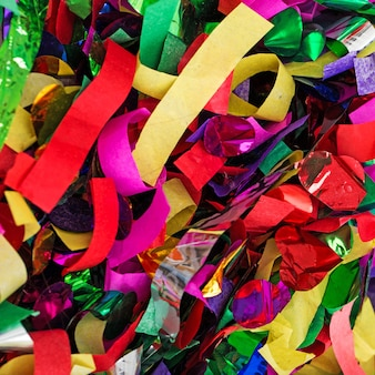Lots of streamers and confetti