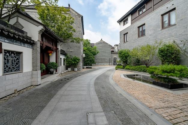 Lotus lane the ancient town alley in nanjing jiangsu province china