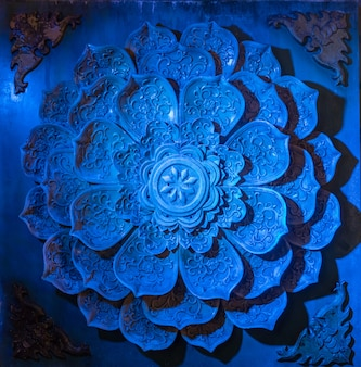 Lotus, metal engraving the background wall