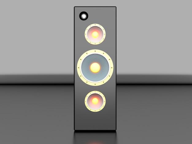 A loudspeaker. 3d rendered illustration.