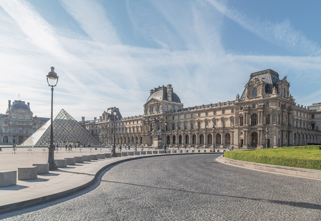 The louvre in paris, the largest museum in the world