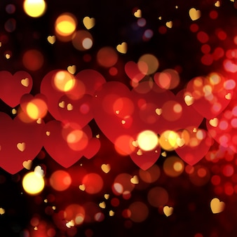 Love background with bokeh effect
