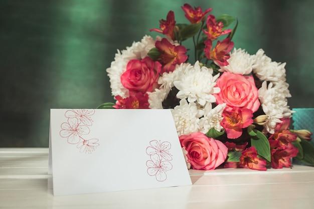 핑크 장미, 꽃, 테이블에 선물 사랑 배경