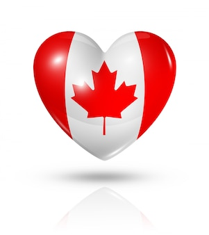 Love canada heart flag icon