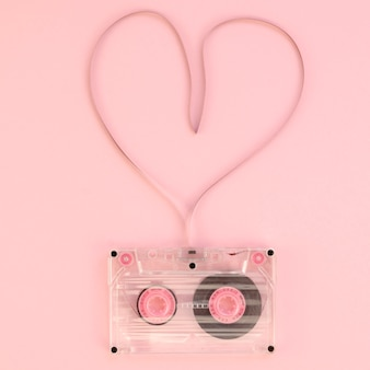 Love cassette tape top view