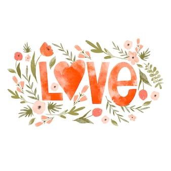 사랑 꽃 인사말 카드