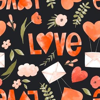 사랑 꽃 원활한 패턴