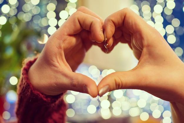 Love hands making shape of heart