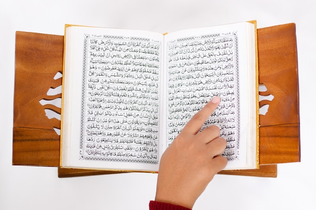 Love the holy quran to read isolated on white background