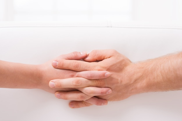 사랑은? 클로즈업, 의, 남자와 여자, 손을 잡는 것