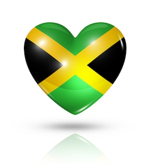 Love jamaica heart flag icon