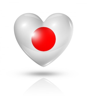 Love japan heart flag icon