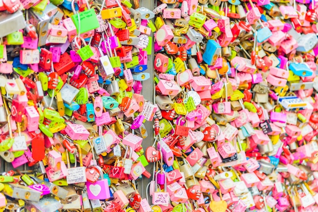 The love key ceremony at n seoul tower