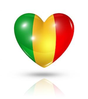 Love mali heart flag icon