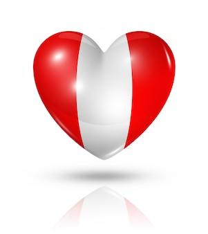 Love peru heart flag icon