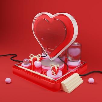Love production illustration - 3d rendering
