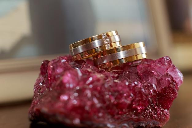 Love rings wedding