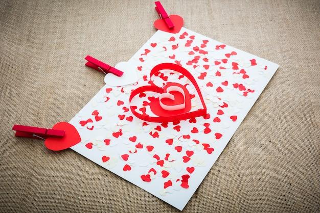 Любовь валентина сердца и красные клипы