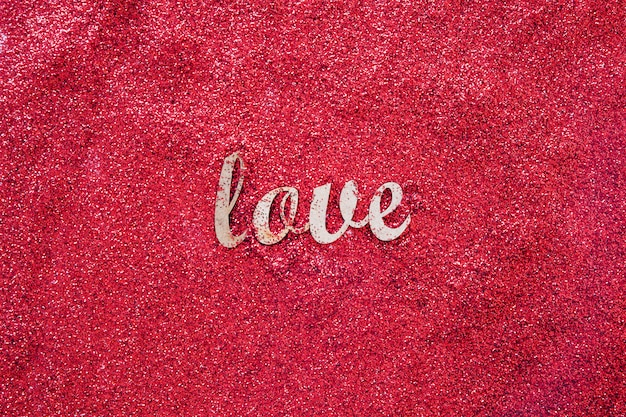 Love writing on red glitter