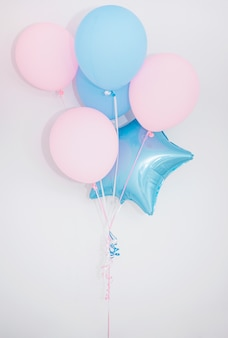 Lovely birthday composition with balloons