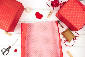 Lovely christmas gifts composition