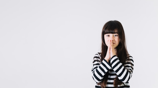Lovely girl praying