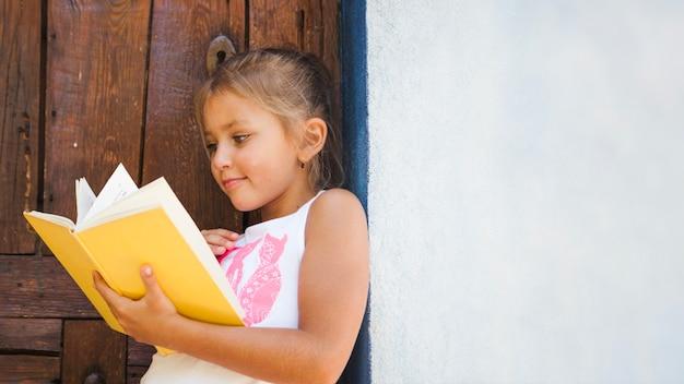 読書付きの素敵な女の子