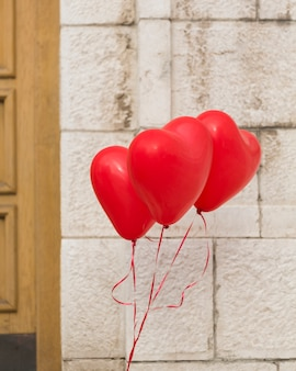 Lovely helium heart balloons