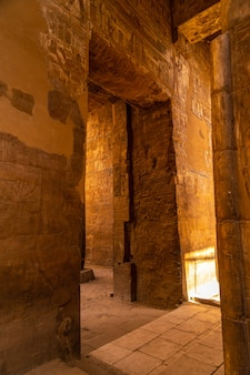 Lovely interior in one of the most beautiful temples in egypt. luxor temple