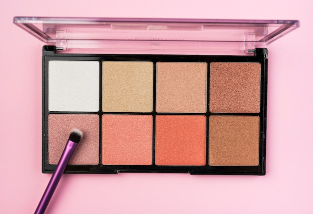 Lovely make up palette top view