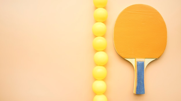 Lovely sport composition with ping-pong elements