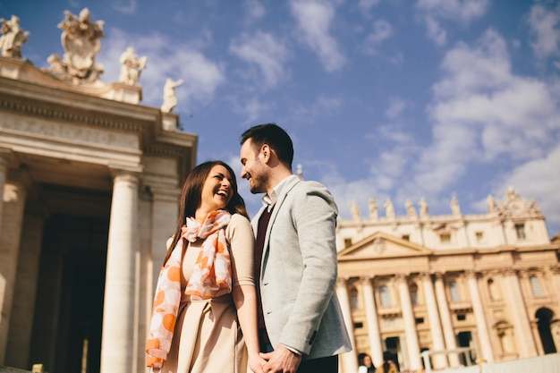 Loving couple in the vatican, italy