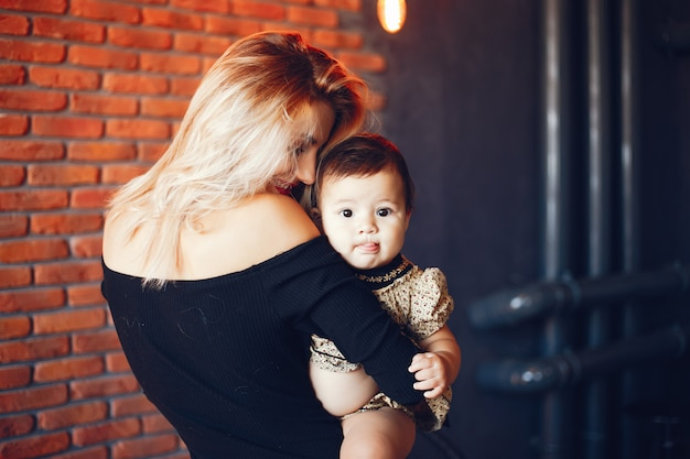 Loving mother with her daughter