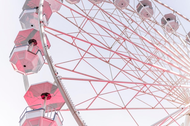 Low angle of amusement park wheel