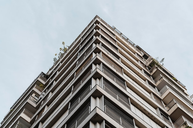 Low angle of apartment building