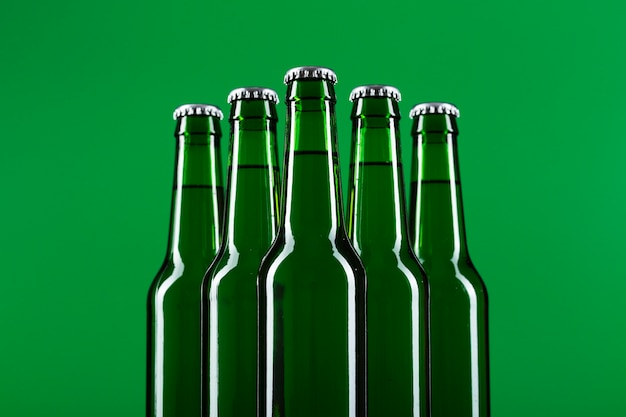 Low angle beer bottle pack