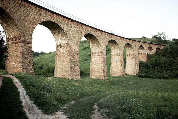 Low angle bridge view